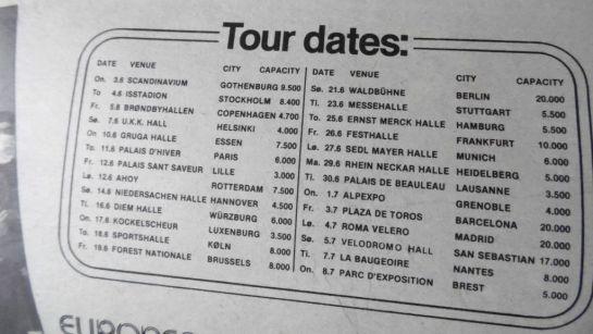 Rainbow 81 EU Tour