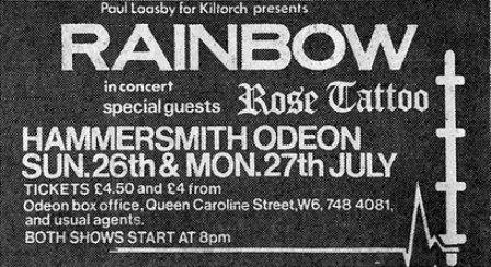 Rainbow Hammersmith 81 II