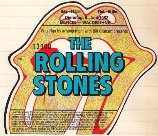 Rolling Stones Berlin 82 ticket