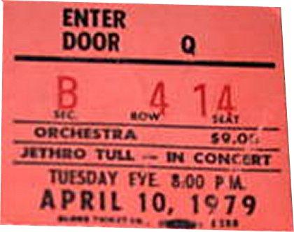 Jethro Tull Seattle 79