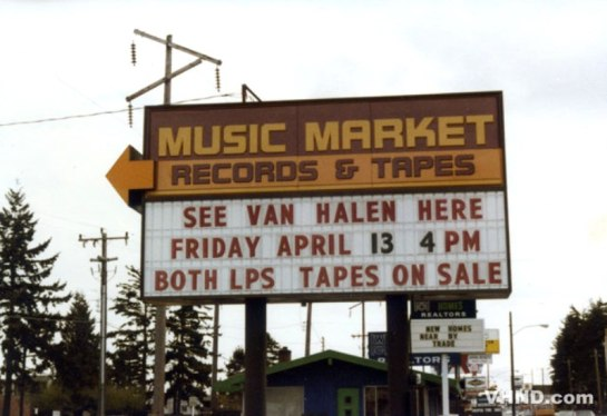Van Halen Seattle 79 sign