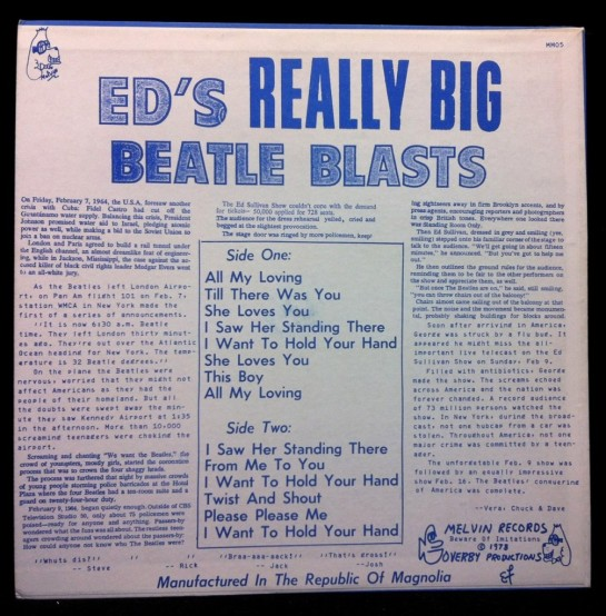 Beatles Ed's Really Big Beatles Blast blu b