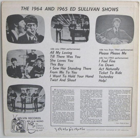 Beatles 64 65 Ed Sullivan S b