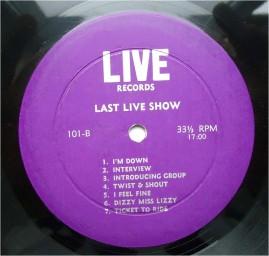 Beatles Last Live Show purp lbl B
