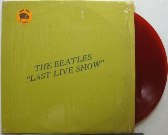 Beatles Last Live Show red