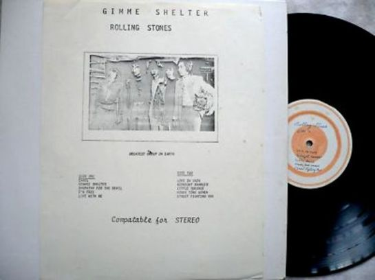 Rolling Stones Gimme Shelter wh lbl