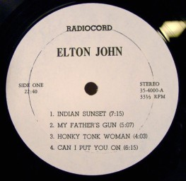 John E radiocord lbl 1