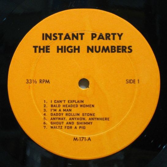 WHO Instant Party orig. lbl