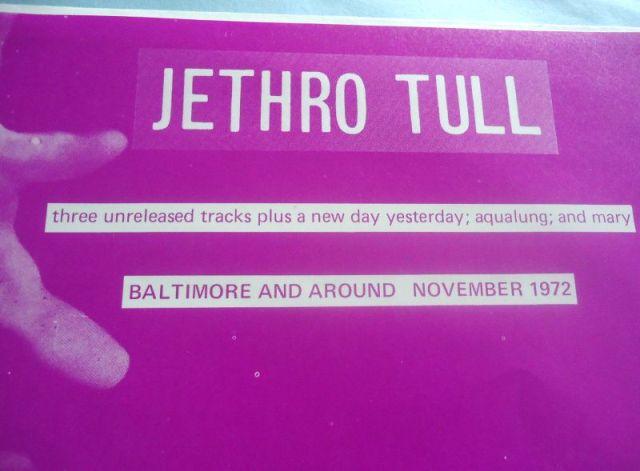 Jethro Tull Baltimore And Around detail