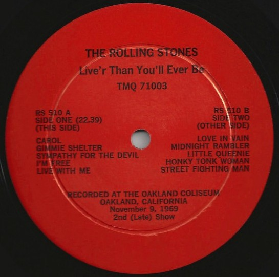 Rolling Stones LiveR cartoon lbl