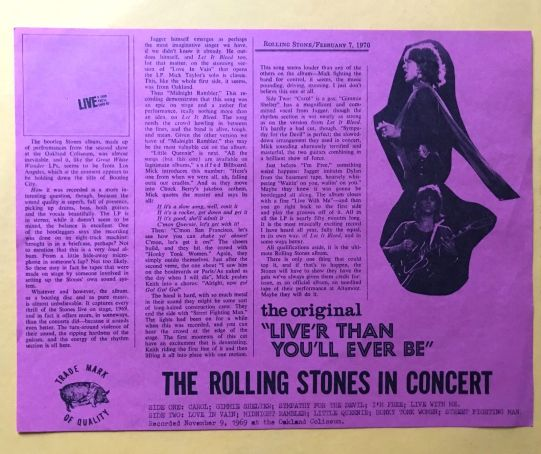 Rolling Stones LiveR ins II