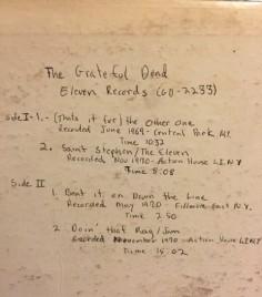 Grateful Dead 2233 sources