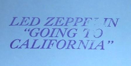 Led Zep G T Cali stamp